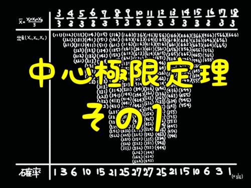 【統計学】中心極限定理 をわかりやすく解説! その1 (解説編)